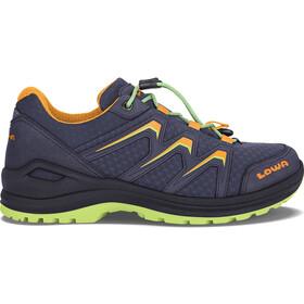 Lowa Maddox GTX LO Shoes Kids blackberry/mandarin